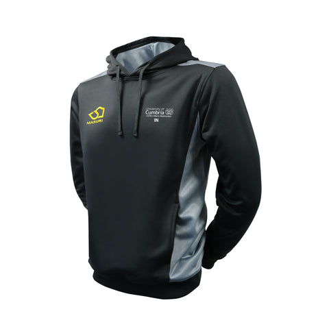 Men's Badminton Black/Grey Hoodie Senior