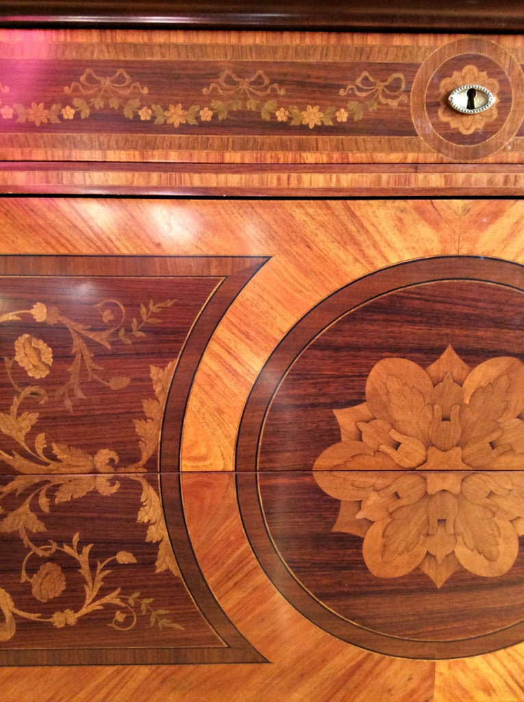 The Differenence Between Marquetry and Inlay Wood Furniture Designs with Video