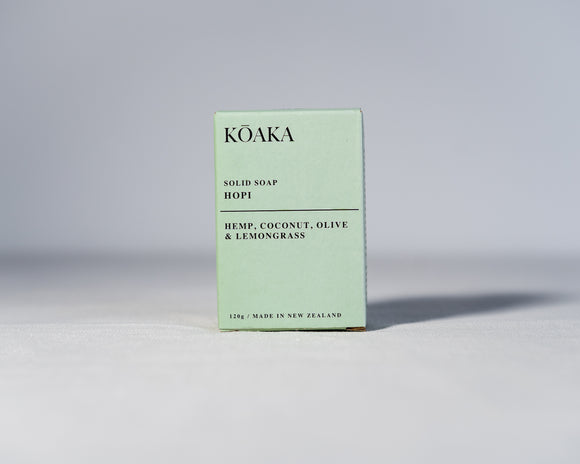 Hemp Solid Soap - Natural NZ Hemp Based Body Care - Koaka