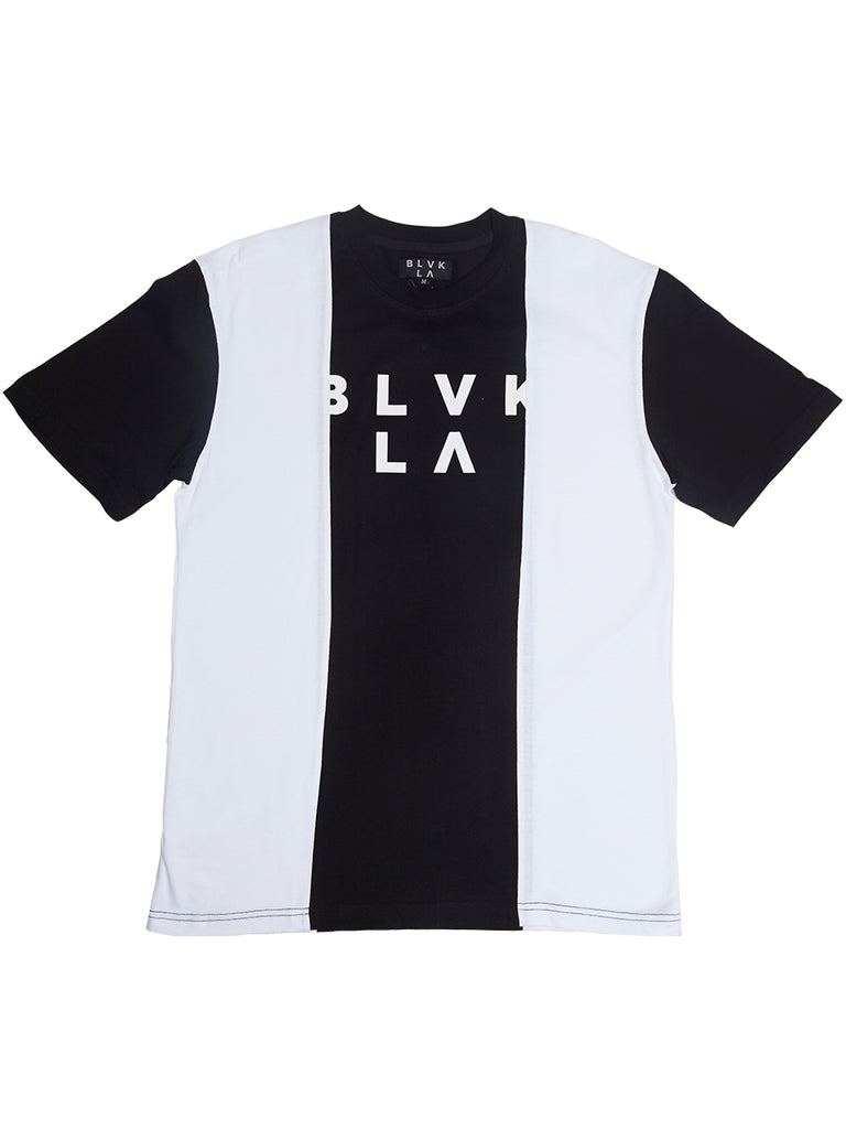 3 way tee in Black/white