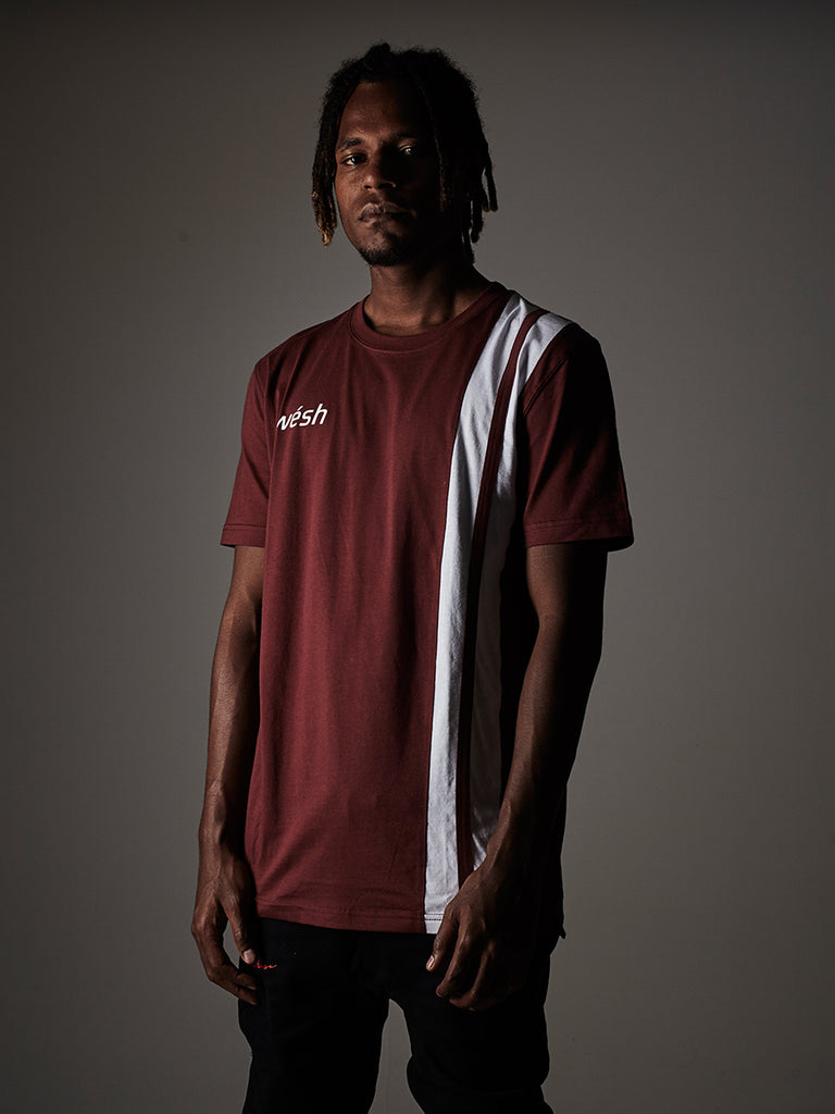 Sports t-shirt in Burgundy