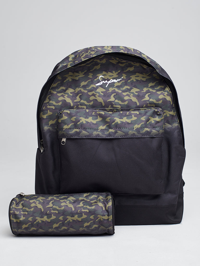 Super backpack and pencil case in camo fade