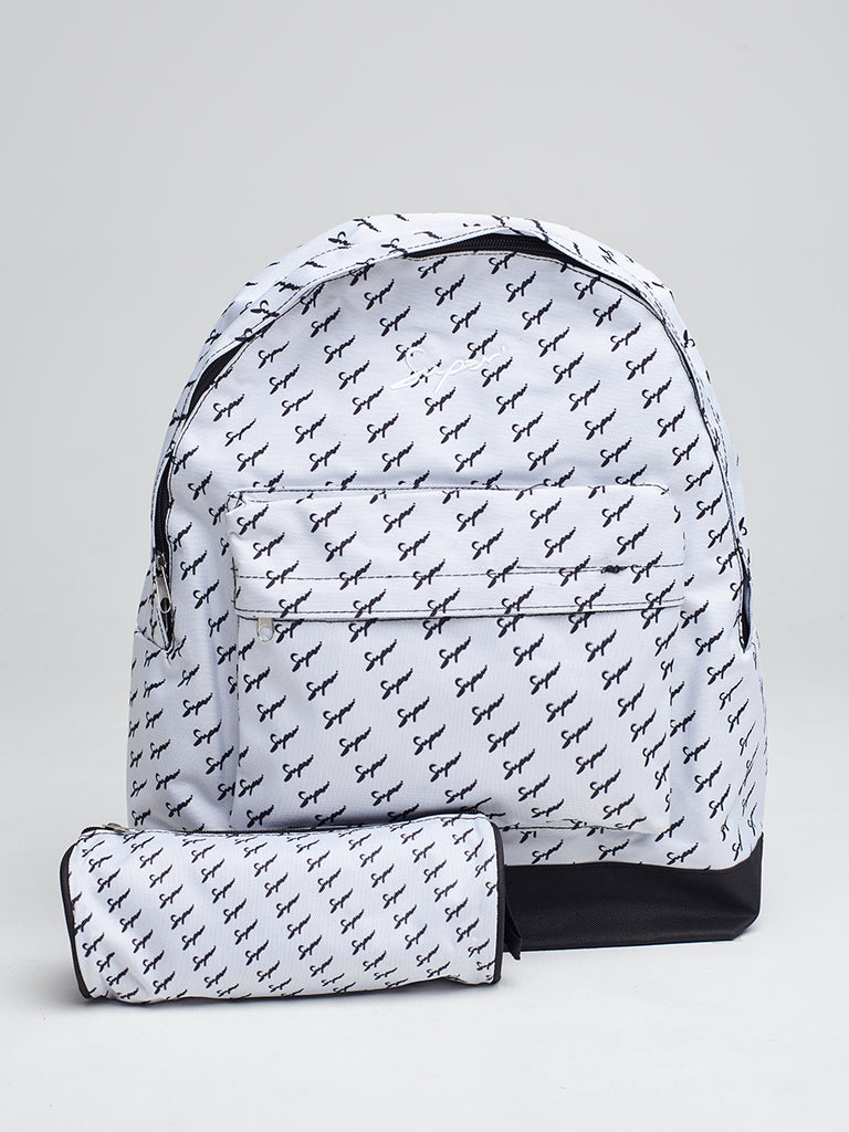 Super backpack and pencil case in Repeat print