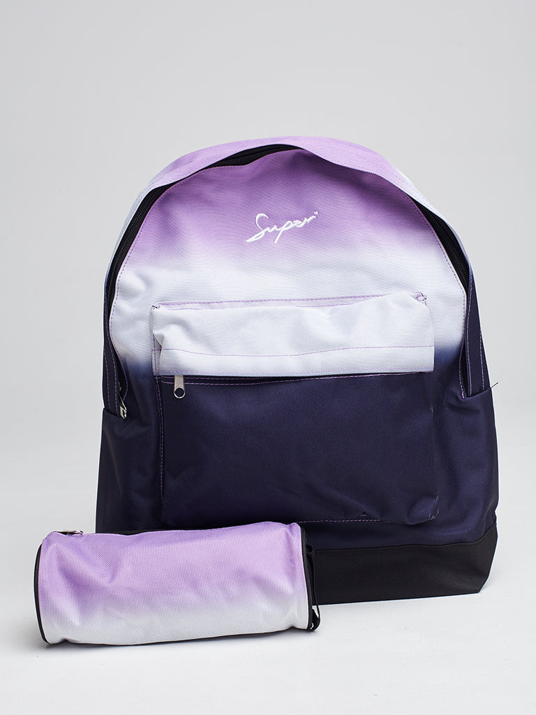 Super backpack and pencil case in pink fade