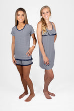 Logan Navy and White Stripe Nightie