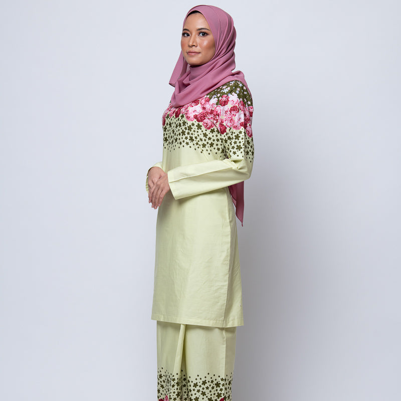 BAJU KURUNG MODEN LIGHT GREEN