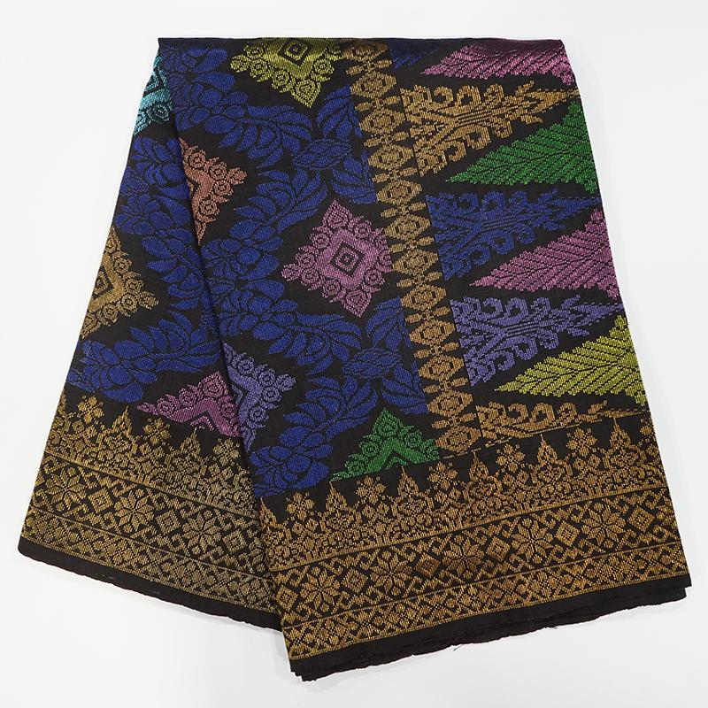 MENS SAMPIN SONGKET BUNGA PENUH BLUE GOLD