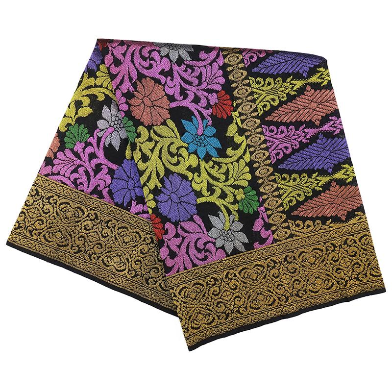 MENS SAMPIN SONGKET BUNGA PENUH DARK GOLD