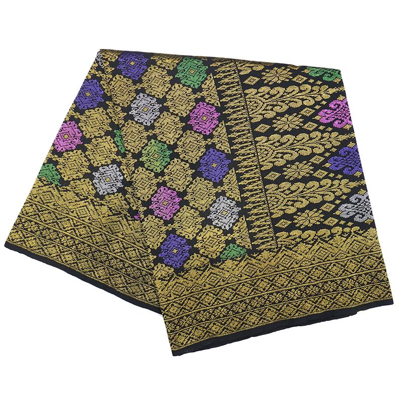 MENS SAMPIN SONGKET BUNGA PENUH LIGHT GOLD