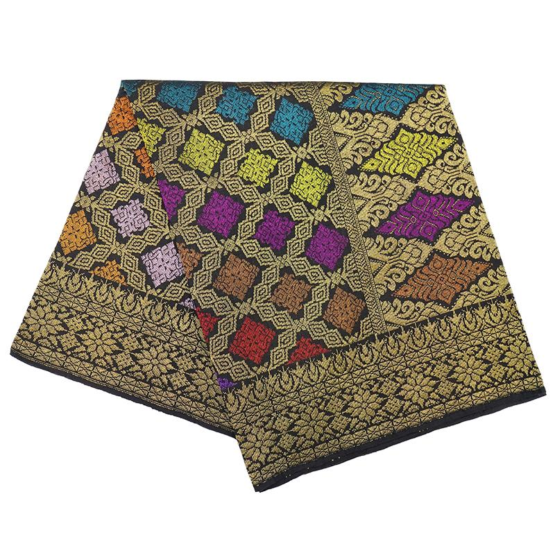 MENS SAMPIN SONGKET BUNGA PENUH YELLOW GOLD
