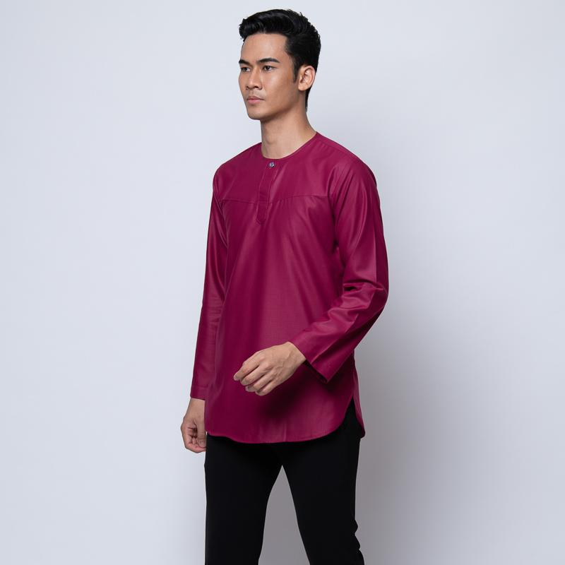 MENS KURTA FULL SLEEVE MAGENTA