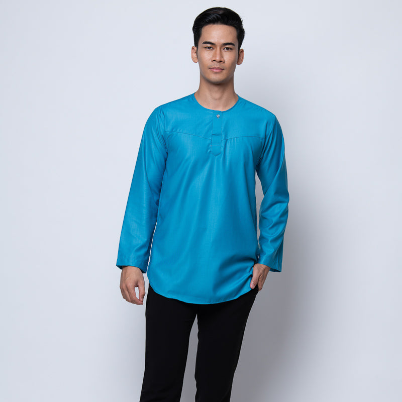 MENS KURTA FULL SLEEVE BLUE