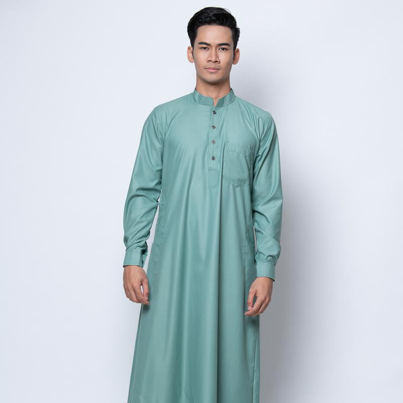 MENS JUBAH HIMEJI HI-TWIST SLIM FIT (Cuff) TAME TEAL