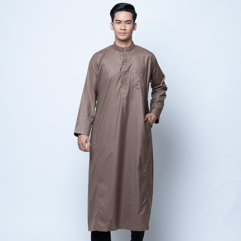 MENS JUBAH CASANOVA PESAK ASH BROWN