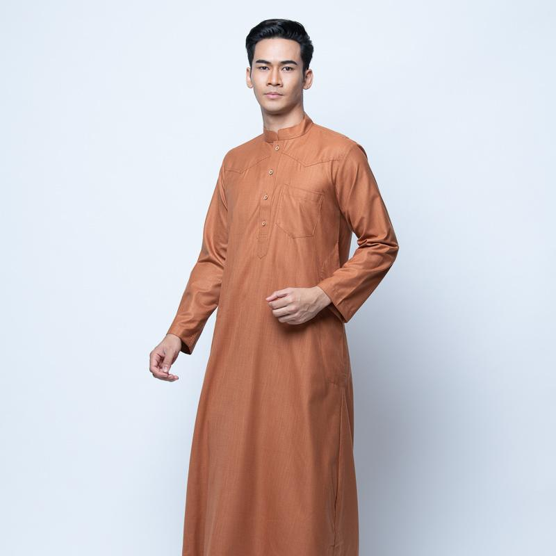 MENS JUBAH CASANOVA SLIM FIT RUSSET