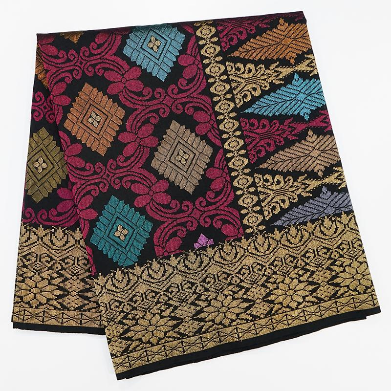 MENS SAMPIN SONGKET BUNGA PENUH RUBY RED