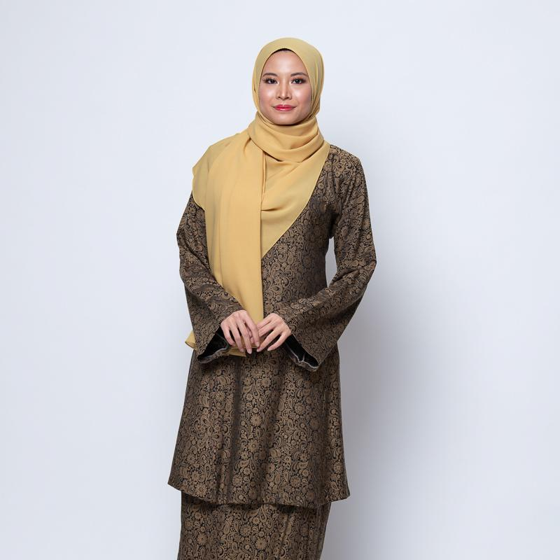 BAJU KURUNG RIAU DARK BROWN