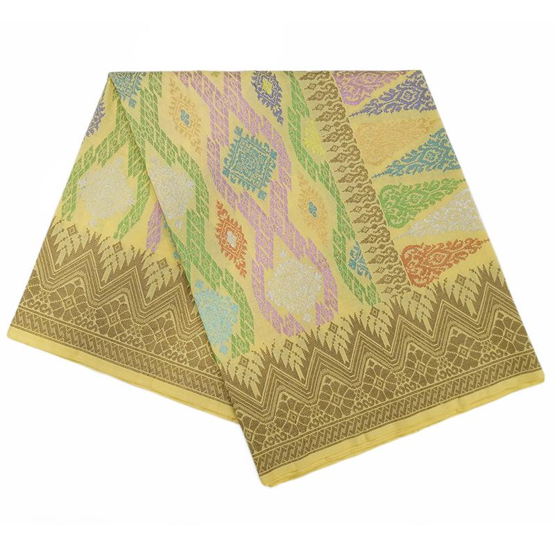 MENS SAMPIN SONGKET BUNGA PENUH YELLOW