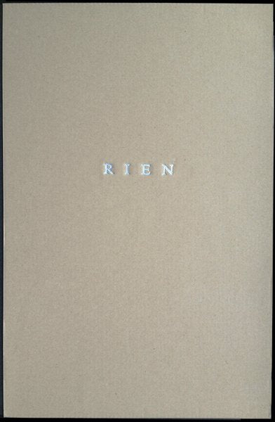 RIEN by André Cepeda SPECIAL EDITION W/ 1 Print
