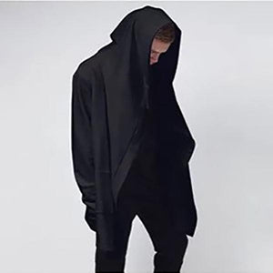 Casual Wizard Balck Loose Cloak Coat