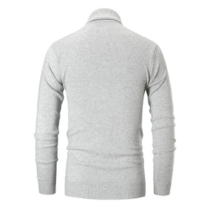 Fashion solid color pullover turtleneck sweater