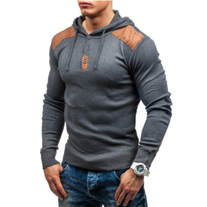 Mens hooded pullover sweater