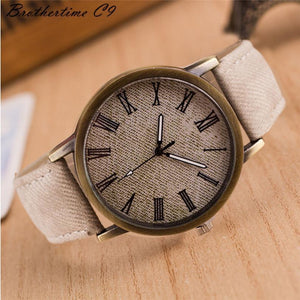Simple Denim Roman Digital Watch