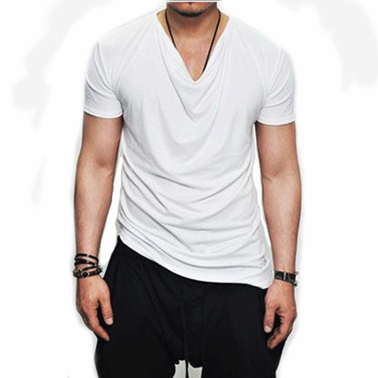 Summer Men's Solid Color Trend T-Shirt