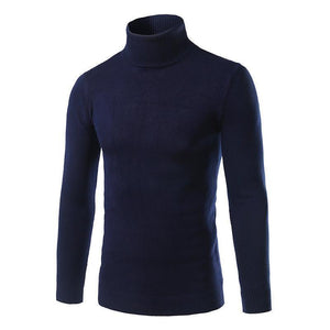 Mens Solid Plain Choker Sweater