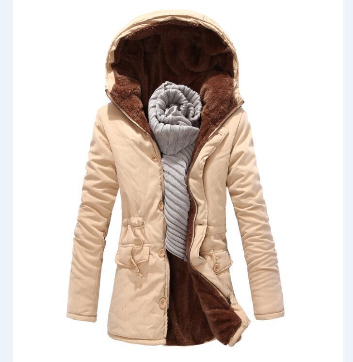 Casual Plain Floss Padded Keep Warm Long Coat