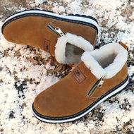 Men Warm Round Toe Leather Boots
