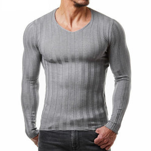 Casual Round Collar Plain Slim Knit Long Sleeve