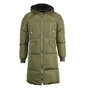 Winter Plain Keep Warm Cotton Padded Long Coat