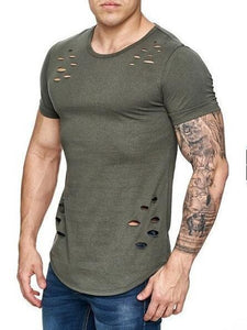 Men's Hallow Out Style Casual T-Shirts