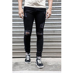 Casual Ripped Jeans   Show Thin Tight Pants