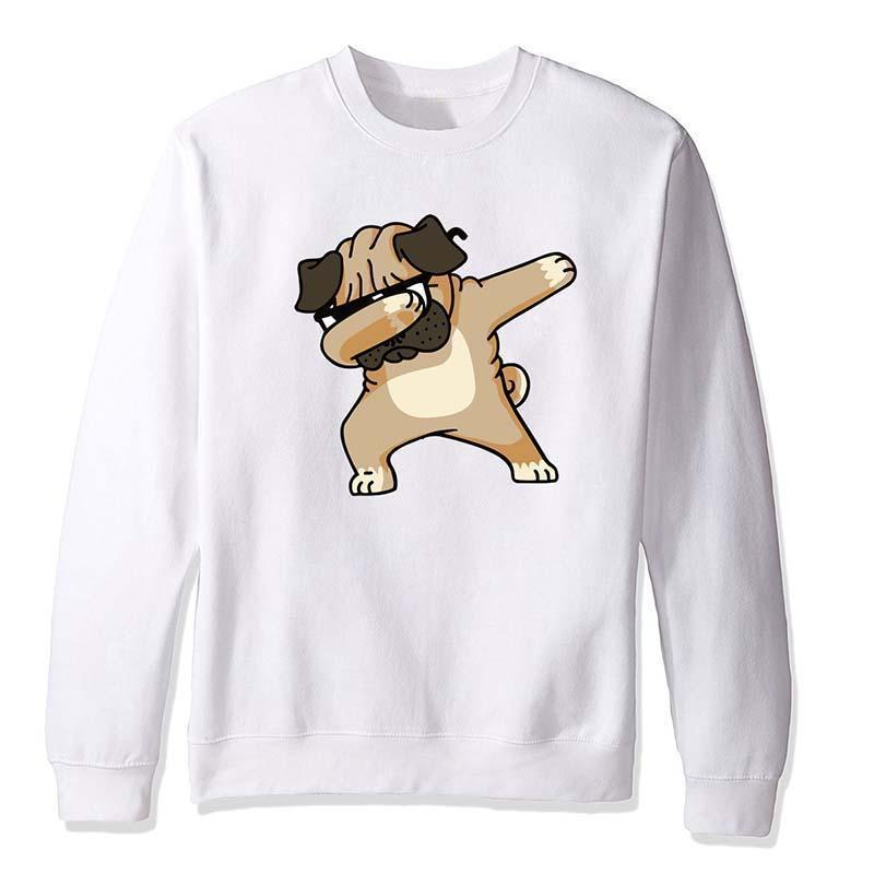 Dabbing Fun Animal Long Sleeve Plus Velvet Top Shirts
