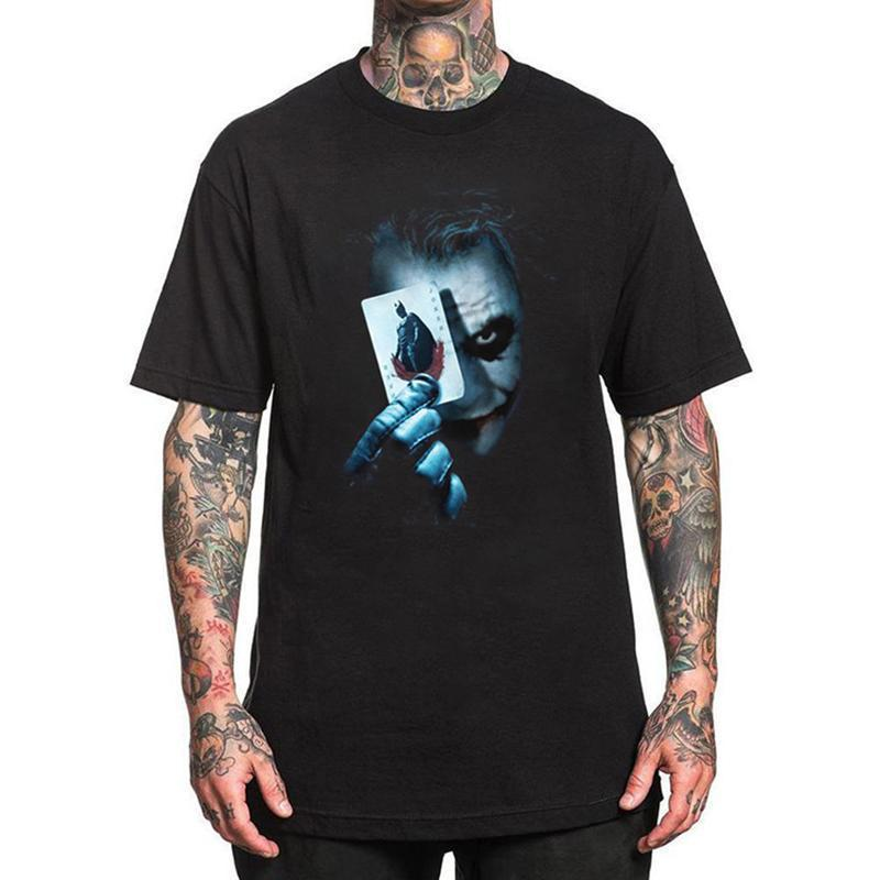 Printed Round Neck Loose  Oversize Clown Short Sleeve T-Shirt