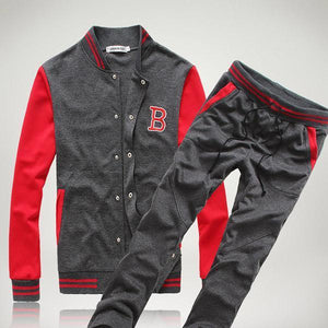 Men's Fashion Color Matching Sleeves Tracksuit