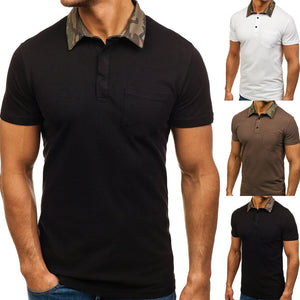 Patchwork Style Men's Casual T-Shirts