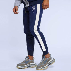 Muscle Fitness Training Trousers   Sports Slim Stitching Pants