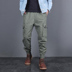 Multi-Pocket Overalls Closing   Leg Trousers Pants