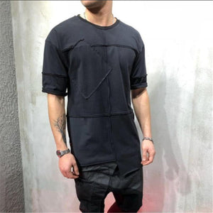 Round Neck Lengthened Casual T-Shirt