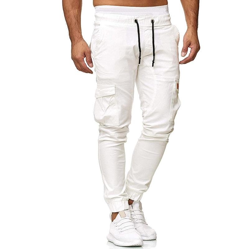 Tethered Belt Slim Fit Casual Trousers