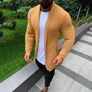 Casual Basic Section Pure Colour Knit Cardigan