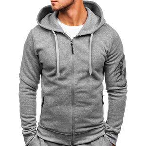 Men's Large Size Sports Cardigan Sweatershirt Suit