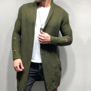 Fashion Men's Long Cardigan Sweaters