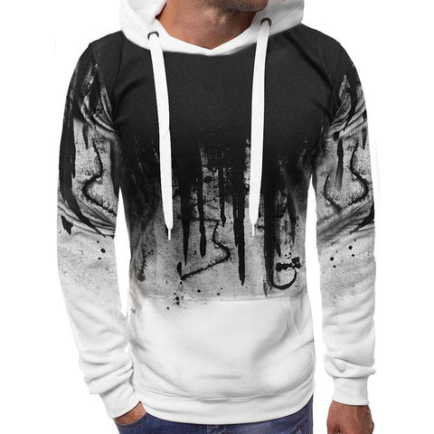 Men's Hooded Sweater Letter Printed Jackets