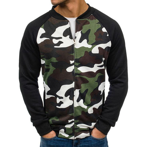 Camouflage Color Matching Men's Sweaters