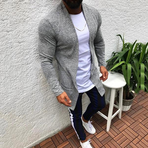 Casual Pure Colour Knit Cardigan