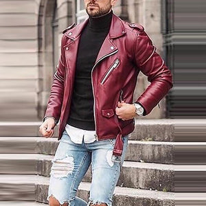 Fashion Short Versatile Lapel Motorcycle Jacket